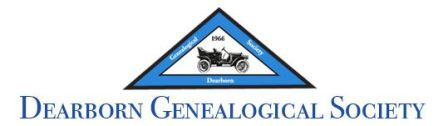 Dearborn Genealogical Society Monthly Meeting